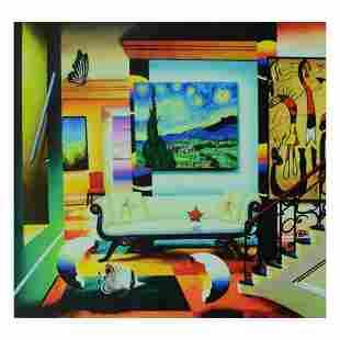 "Ferjo, ""Salon Of Van Gogh"" Limited Edition on Canvas,"