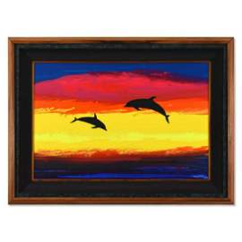 "Wyland, ""Sea Alive"" Framed Original Acrylic Painting on"