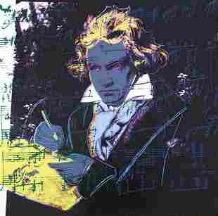 "Andy Warhol- Screenprint in colors ""Beethoven 393,"