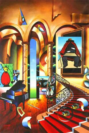 "Ferjo ""Conclave of the Masters"" Giclee on Canvas"