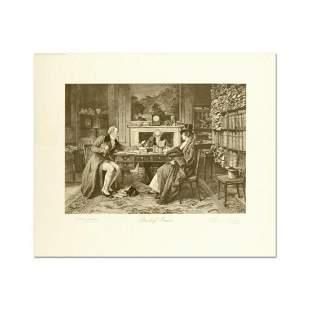 "W. Dendy Sadler (1854-1923), ""Breach of Promise"" Plate"