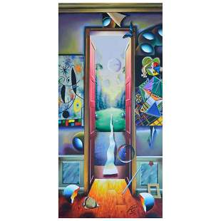 "Ferjo, ""Life Outside the Door"" Original Painting on"