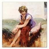 """Pino (1939-2010), """"Francesca"""" Artist Embellished"""