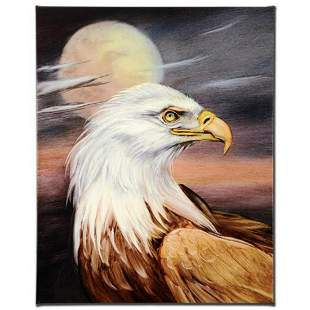 """""""Eagle Moon"""" Limited Edition Giclee on Canvas by Martin"""