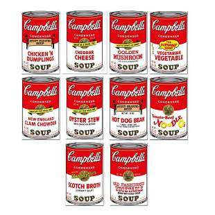 "Andy Warhol ""Soup Can Series 2"" Limited Edition Suite"