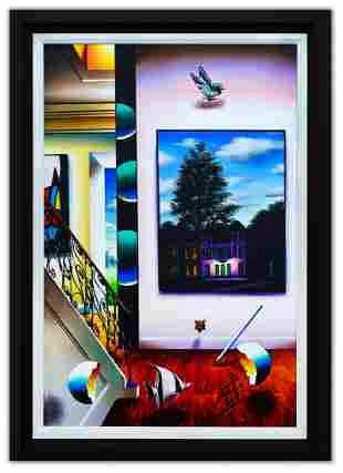 "Ferjo- Original Oil on Canvas ""Midnight Happenings"""