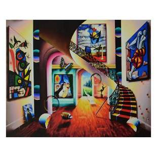 """Ferjo, """"Surreal Room with Masked Dali"""" Limited Edition"""