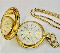 DAVID J. MAGNIN 18K YELLOW GOLD Pocket Watch