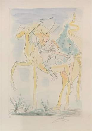 Salvador Dali (Spanish, 1904-1989) Engraving in color