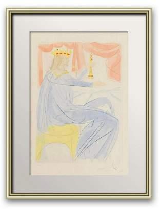Salvador Dali Intaglio Etching and Color Pochoir on