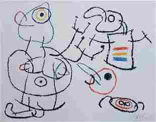 """Joan Miro (1893 - 1983) Color Lithograph """"L'enfance"""