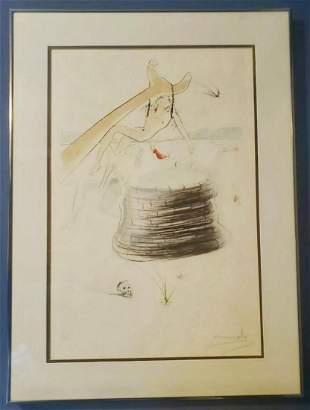 """Salvador Dali Original engraving """"JOSEPH """""""