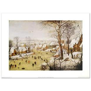 """""""Winter Landscape with Skaters and Bird-Trap"""" by Pieter"""