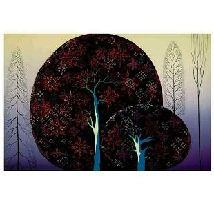 "Eyvind Earle (1916-2000), ""A Tree Poem"" Limited Edition"
