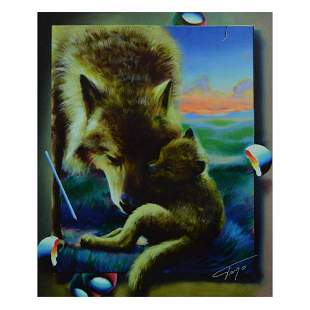 "Ferjo, ""Cuddle Up with Mom"" Limited Edition on Canvas,"