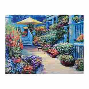 "Howard Behrens (1933-2014), ""Nantucket Flower Market"""