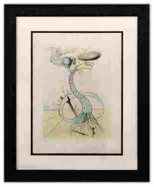 "Salvador Dali- Original Lithograph ""Dan (From Twelve"