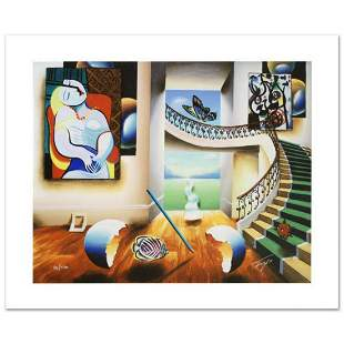 """Dreaming"" Limited Edition Giclee on Canvas by Ferjo,"