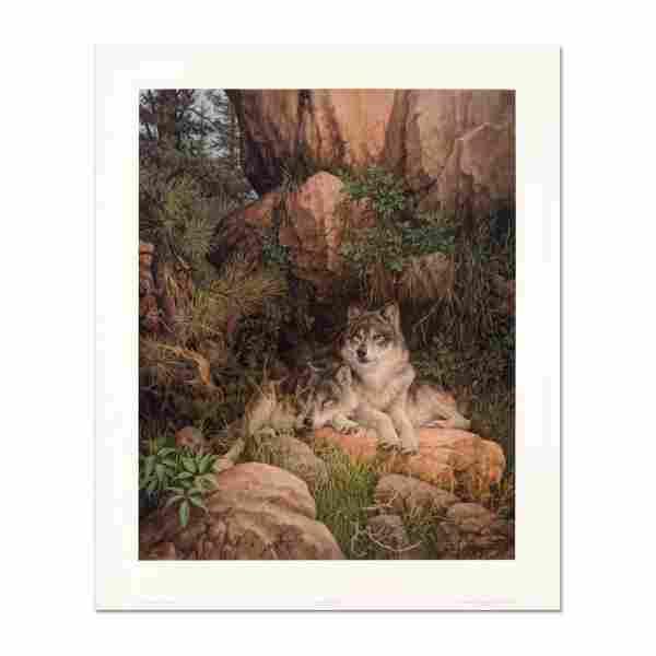 "Larry Fanning (1938-2014), ""Soul Mates - Gray Wolves"""