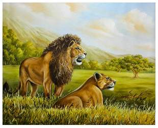 "Vera V. Goncharenko- Original Oil on Canvas ""Father &"