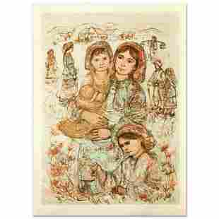 """""""Family in the Field"""" Limited Edition Lithograph by"""