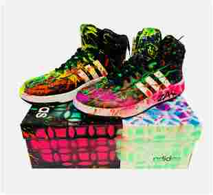 """E.M. Zax- Hand painted Adidas Shoes """"Painted Shoes"""""""
