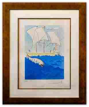 "Salvador Dali- Original Lithograph ""Zebulun (From"