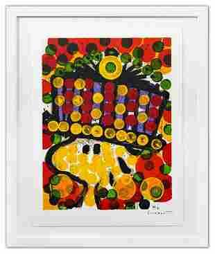 "Tom Everhart- Hand Pulled Original Lithograph ""Bird of"