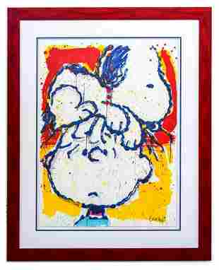 "Tom Everhart- Hand Pulled Original Lithograph ""Hair"