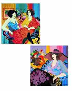 "Patricia Govezensky- Set of 2 Serigraph on Paper ""Noa"