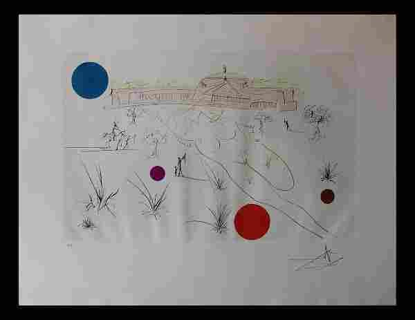 "Salvador Dali- Original Etching with color ""Museum of"