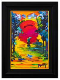 "Peter Max- Original Mixed Media ""Better World"""