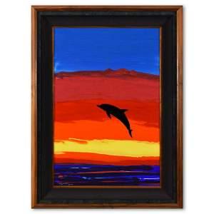 """Wyland, """"Ocean Watch"""" Framed Original Acrylic Painting"""