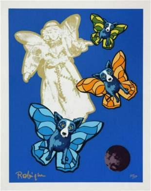 "George Rodrigue Original serigraph on paper ""Angel"