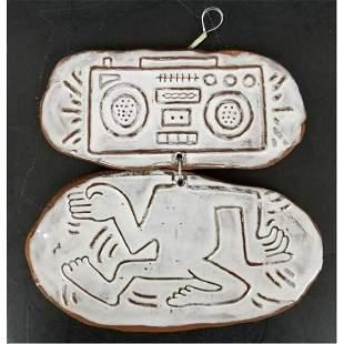 Keith Haring, American ( 1958-1990) Original Ceramic 2