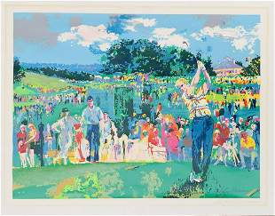 "Leroy Neiman  Silkscreen on paper ""Augusta Golf """