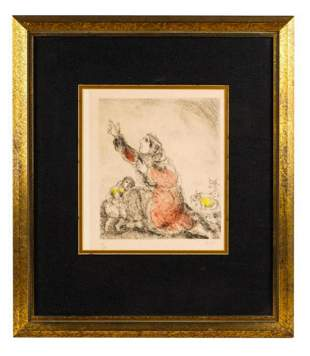Marc Chagall Hand colored etching