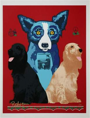 "George Rodrigue Original serigraph on paper ""Midnight"