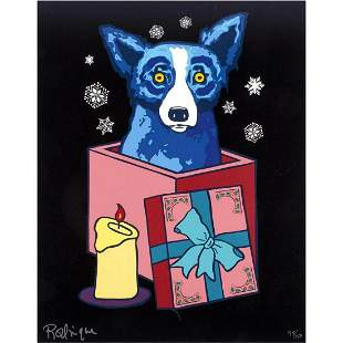 "George Rodrigue screenprint ""Untitled """