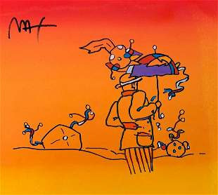 Peter Max Mixed Media Watercolor on paper