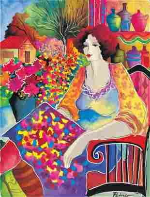 "Patricia Govezensky- Original Giclee on Canvas ""Lady"