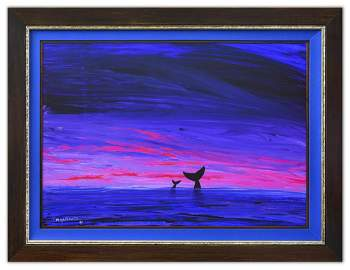 "Wyland- Original Painting on Canvas ""Abstract"""