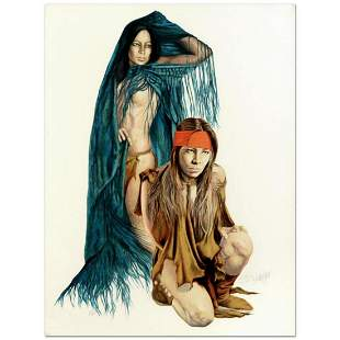 Popo & Ruby Lee, Limited Edition Serigraph, Numbered