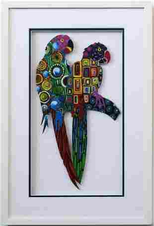 Patricia Govezensky- Original Painting on Laser Cut