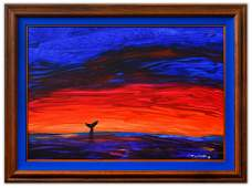 "Wyland- Original Painting on Canvas ""Asbstract"""