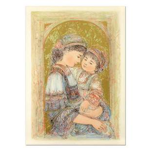 """Edna Hibel (1917-2014), """"Mother and Child of Thera"""""""