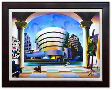 "Ferjo- Original Oil on Canvas ""Guggenheim Ny"""