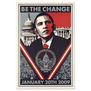 "Shepard Fairey, ""Be the Change"" Barack Obama"