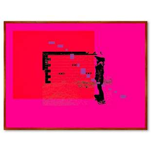 "Claudio Santini, ""City Wall 1"" Framed Hand Signed"