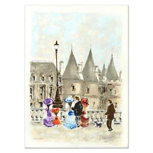 """Urbain Huchet, """"Towers"""" Limited Edition Lithograph,"""